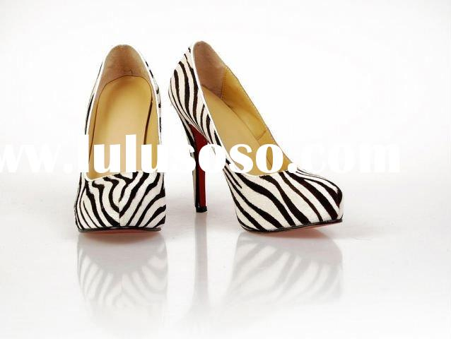 MOQ1(Free shipping)- Guaranteed 100% Genuine Leather woman shoe,Brand Designer Shoes