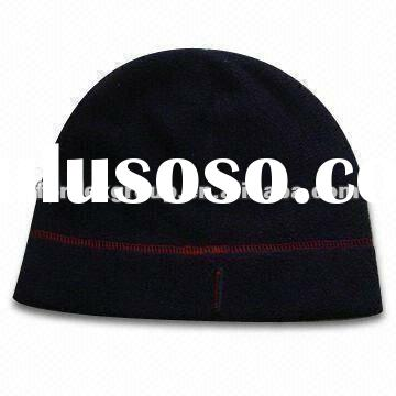 Men's Polar Fleece Beanie Hat, Made of 100% Polyester, with Embroidery, One Size Fits All