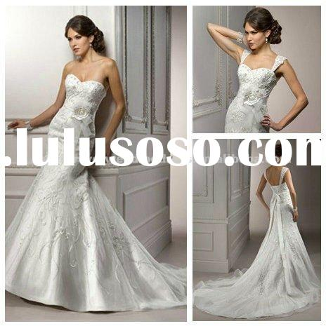 Mermaid Style Wedding Gowns Dresses Bridal 2012 With Ribbon