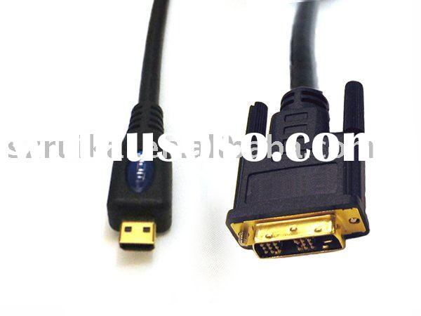 Micro HDMI to DVI-D single link(18+1) audio/video cable