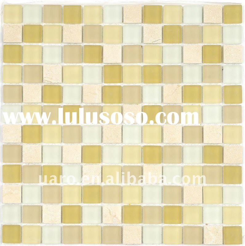 Misty white and mother pearl stone mosaic tile