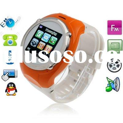 NQ998 Green, Watch Mobile Phone, with Camera, QQ / Bluetooth / FM Touch Screen Watch Mobile phone, S