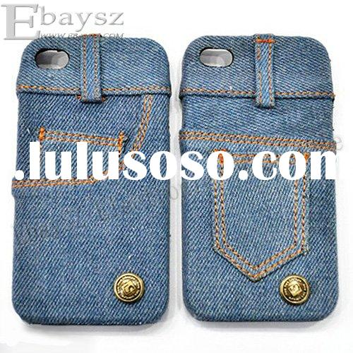 New Stylish Jeans Protective cover case for Apple iPhone 4 4G IP-498