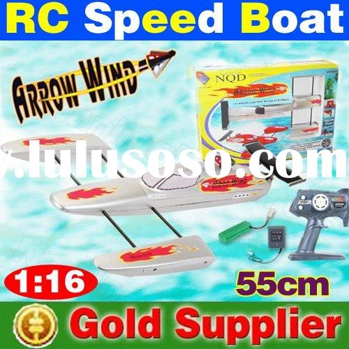 New arrival ! 55 cm 1:16 remote radio control arrow wind racing boat super fast rc speed boat