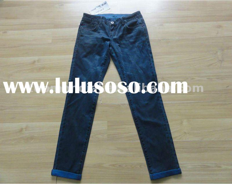 New style trendy fashion denim jeans for women in 2012