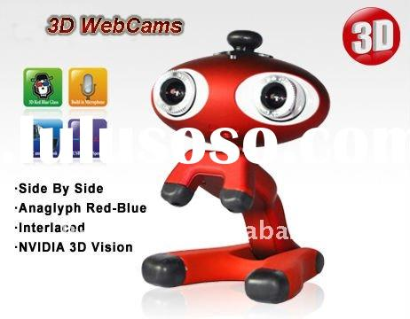 Newest and Cheap 3D Webcam with HD COMS Sensor,3D Red-Blue Glasses