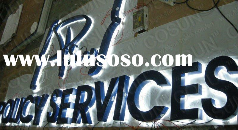 Outdoor advertising painting back light/halo light letter