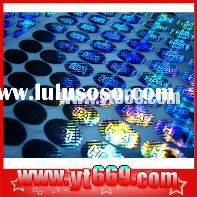 Oval hologram /Round holographic /Customized instant hologram film/ 4D holographic label sticker/ 20