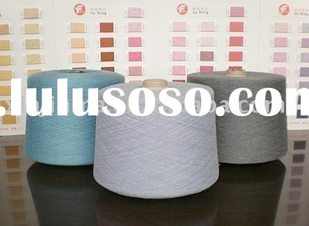 POLYESTER/VISCOSE BLENDED DYED YARN FOR KNITTING