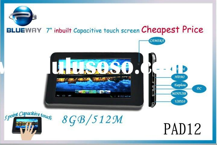 "Pad7A12 Cheapest android 4.0 OS Embedded 5 point capacitive touch screen 7 "" Tablet PC"