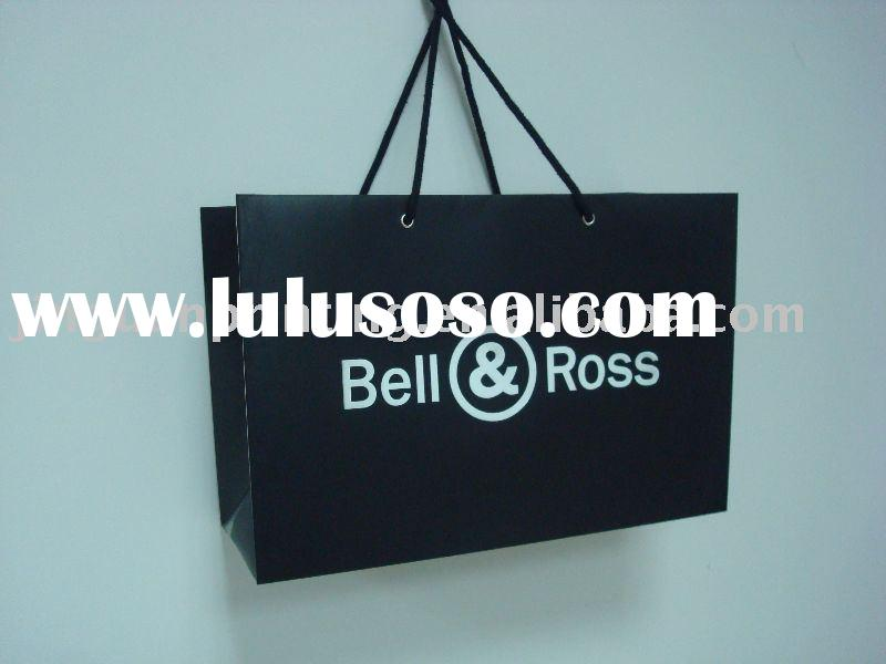Paper carrier bag with cotton rope handle -- large size