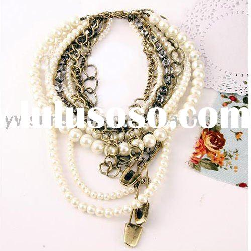 Pearl necklaces costume jewelry