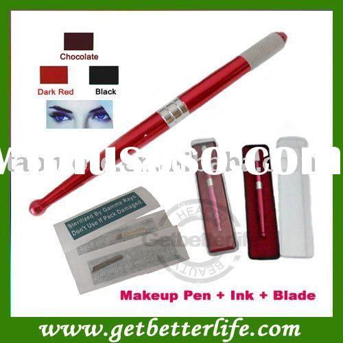 Permanent makeup Manual pen Tattoo Permanent Makeup Pen Blade Ink - makeup kit