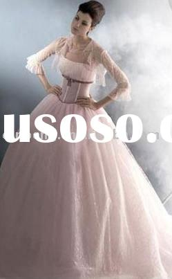 Pink Princess Wedding dress 2011 Long sleeve wedding dresses SFWD136