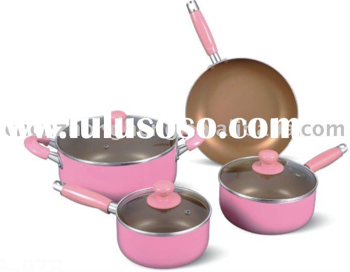 Pink cookware sets, cookware sets
