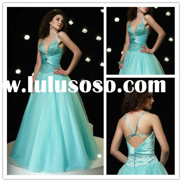 Plus Size Fashion Halter Prom Dresses A-line Organza Beaded Modest Evening Dress For Women
