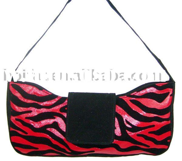 Polyester Suede Velvet Handbag Leopard Printed Tote Bag PVC Shoulder Bag PU Bowling Bag Canvas Eveni