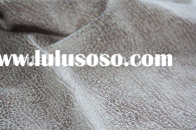 Polyester spandex suede with foil knit single jersey fabric