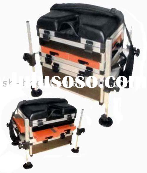 Portable fishing tackle seat boxes