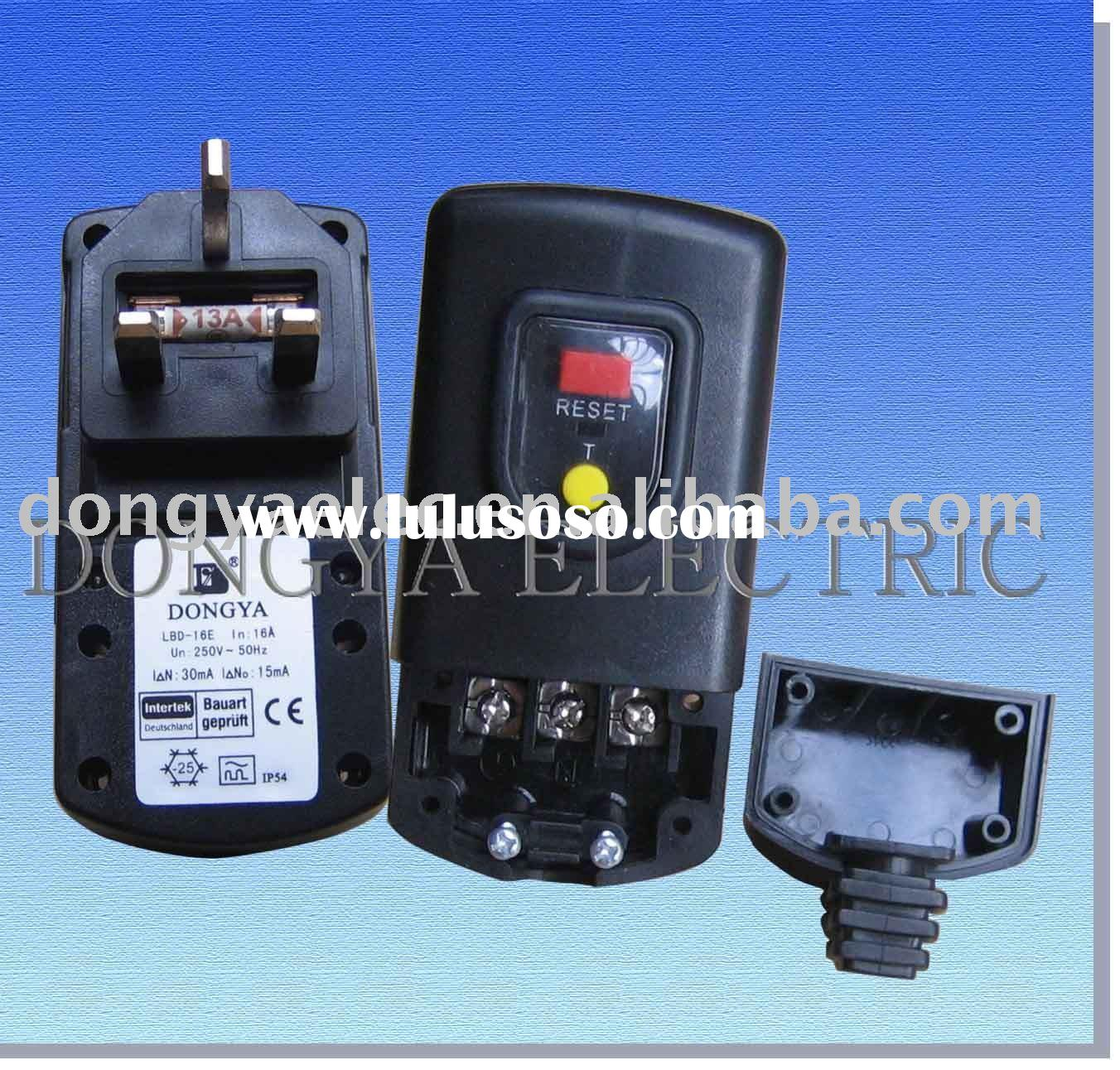 Ground Fault Circuit Interrupter Gfci Male Plug Black 10a
