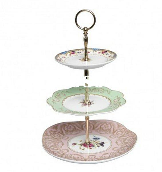 Practical and beautiful appearance of 2 tieres - 3 tiered cake stand fittings/ holder, steel cake st