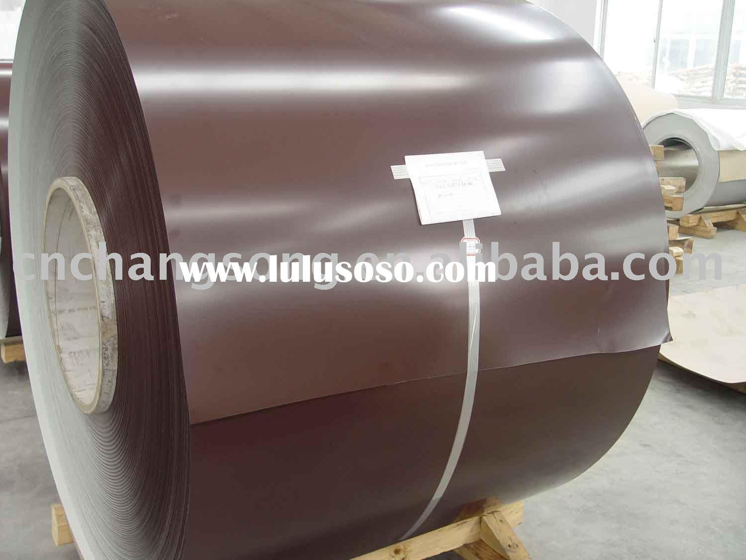 Prepainted aluminum coil for roofing