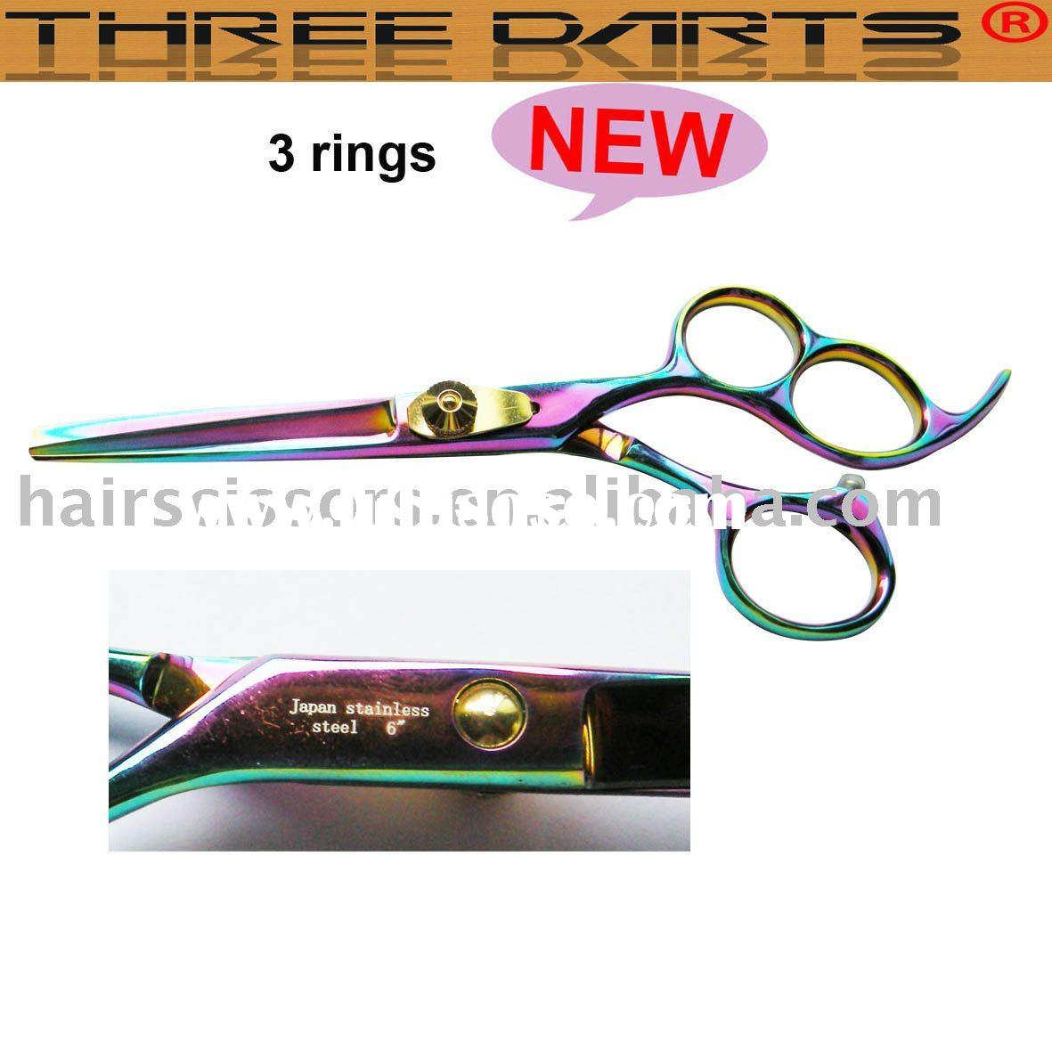 Professional Rainbow Color Barber Hair Cutting Scissors