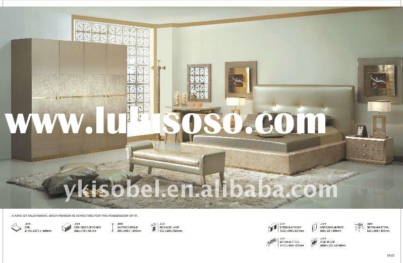 Queen size furniture bedroom in gold Foshan China J001