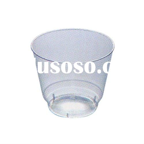 RC0511 Clear Plastic Disposable Tea Cups and Saucers