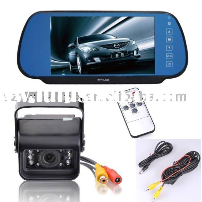 REAR VIEW CAMERA SYSTEM WITH CLIP ON MIRROR MONITOR