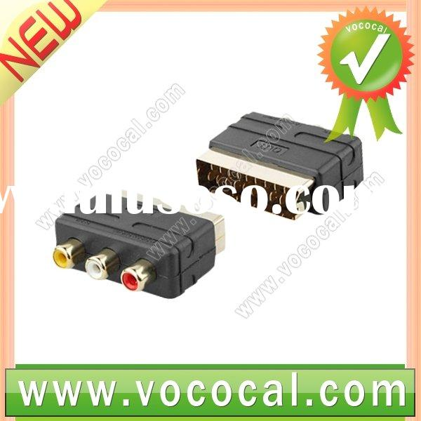 RGB Scart Male to 3 RCA AV Female Adapter Converter