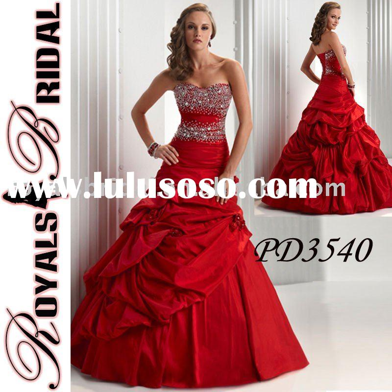Red Elegant Prom Dress Gown