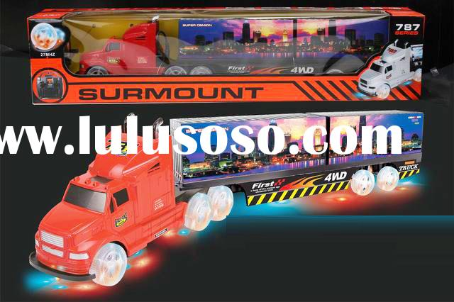 Remote Radio Control Semi Tractor Trailer Truck GLOWING ILLUMINATED 154587