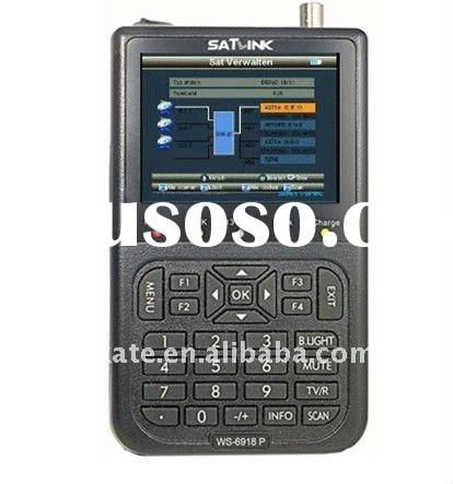 Satlink WS-6918P HIQ 8PSK DVB-S & DVB-S2 digital satellite finder TV finder meter