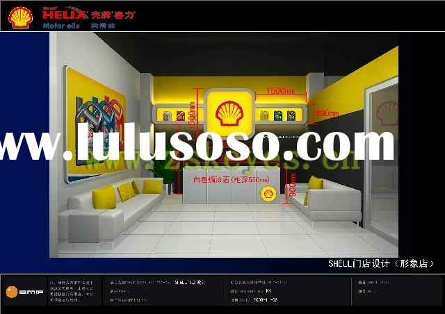 Shell Lubricant Oil and Painting Oil Display Shelves