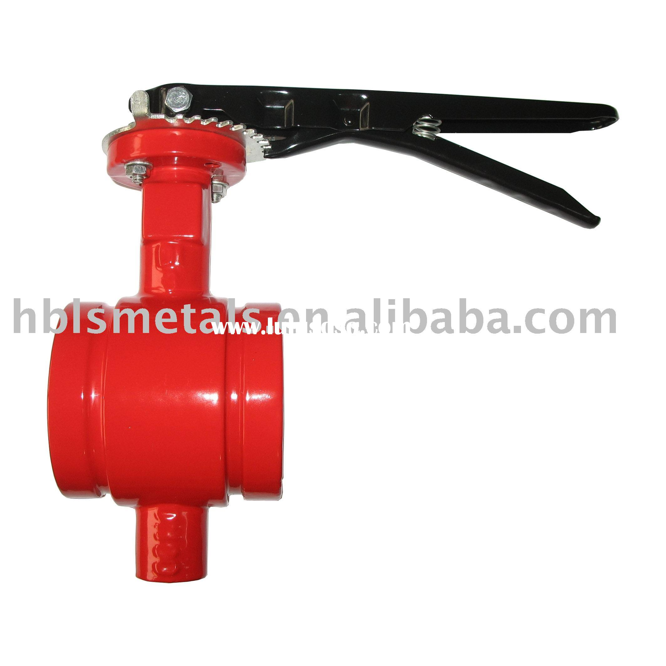 Nibco grooved end butterfly valve