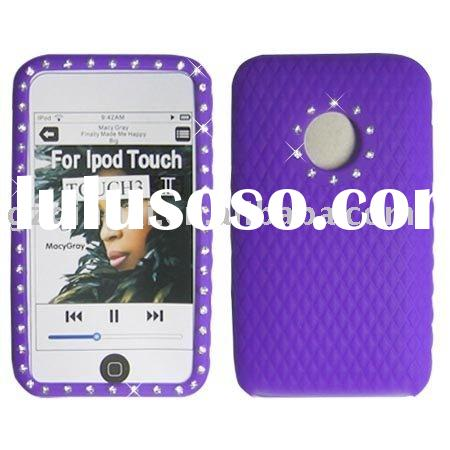 Silicon rhinestone cell phone cover case for touch 3