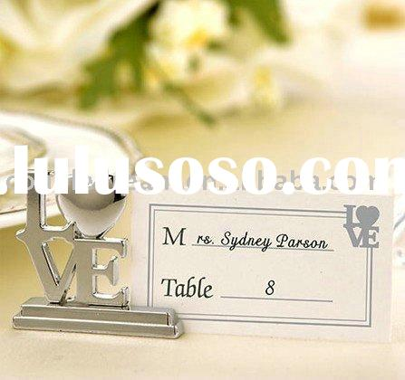 Silver LOVE Place Card Holders Wedding Favor