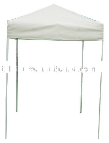 Small white aluminum pop up tent