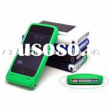 Solar Battery with Silicon case for iphone 3g (WSC--001i)