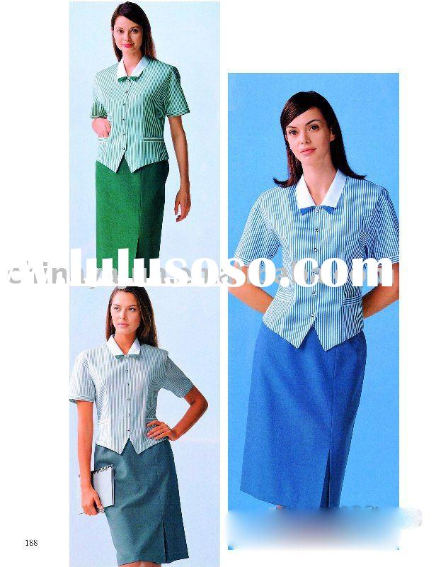 Special desiged uniforms for hotel receptionist.