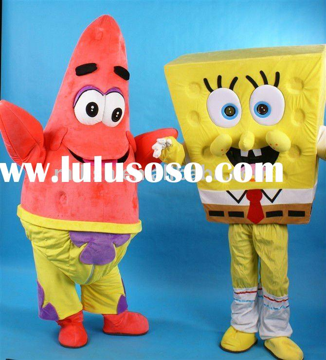 Spongebob and Patrick Mascot costumes/Mascot fancy dress MAE-0047