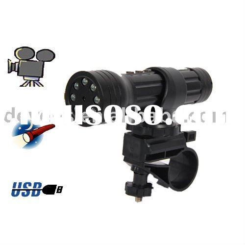 Sports CCTV Camera DVR in LED Flashlight with IR Night vision