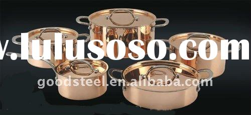 Stainless Steel Cookware Set with Copper Surface