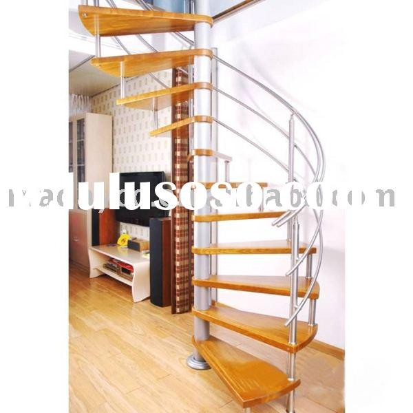Steel Wood Spiral Stairs