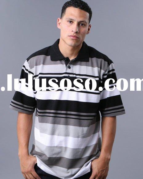 Striped Handsome T-shirt Polo with competitive price Made In China