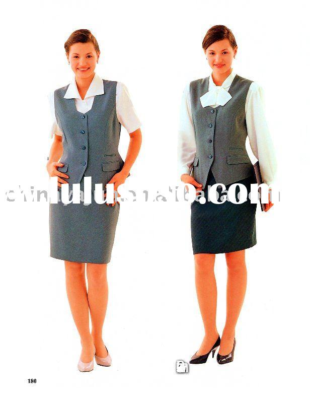 Summer uniforms for hotel receptionist.