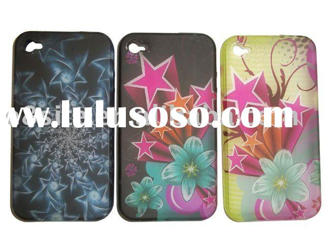 TPU Mobile Phone Case for iPhone 4 -- UV Printing