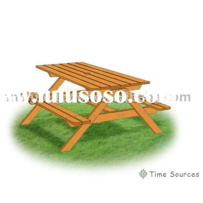 TSOP10036 Picnic table with bench Chairs tables wooden furniture Wooden kids furniture Wood furnitur