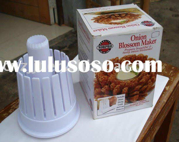 TVK8053 plastic onion and Tomato blossom maker onion chopper slicer